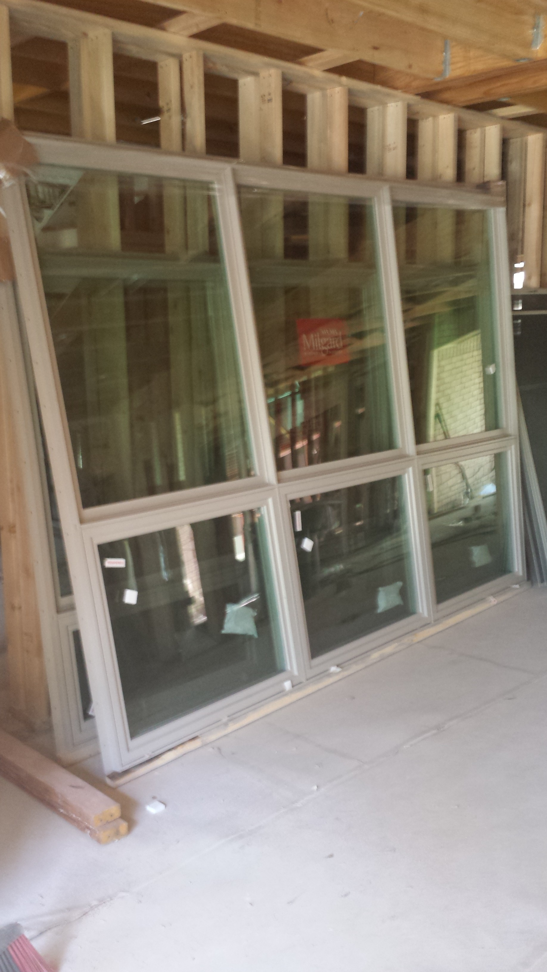 The front windows for the library/dining room.