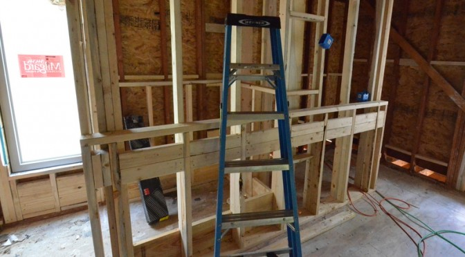 Framing the master bath