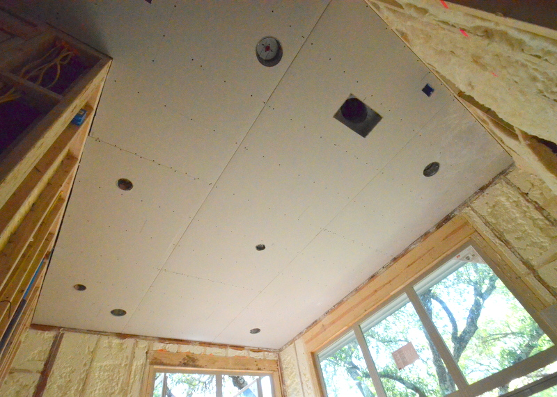 The ceiling over the master bedroom.
