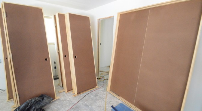 Moving stuff in — doors and trim