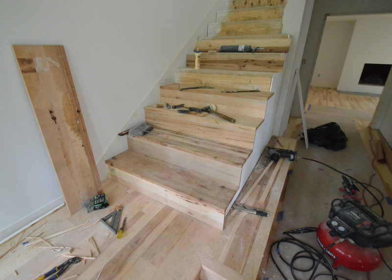 It takes a lot of tools to build stairs -- which is one reason Luis commands the house this week, with all the other trades distanced  from the stairwell.