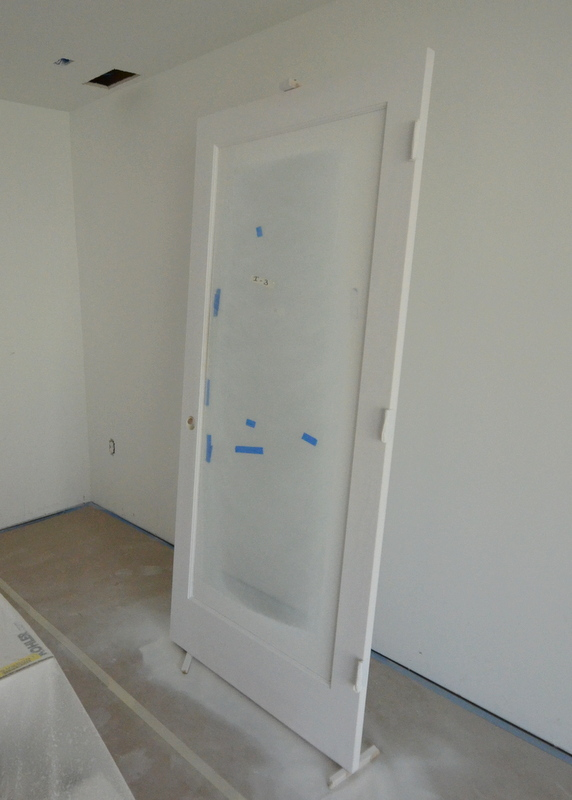 This will be the door to Steven's office. Here it is, primed.