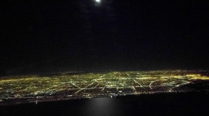 Full moon over L.A.
