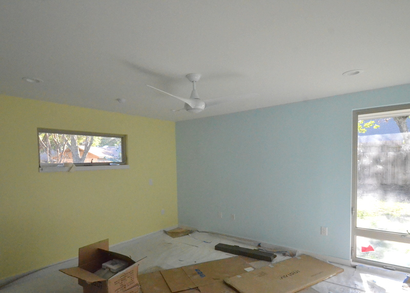 The ceiling fan in Jadin's bedroom.