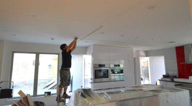Fixing cracks in drywall ceilings