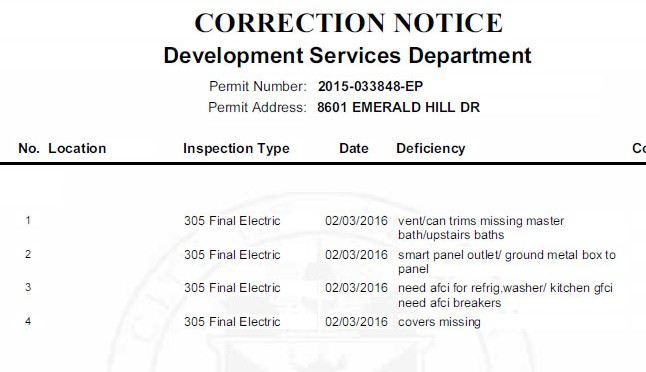 Electrical inspection, passed — almost