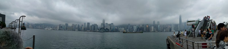 Panoramic shot of the Hong Kong channel.
