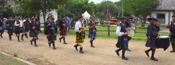 We went to the Renaissance Faire, and all the kilts were there …