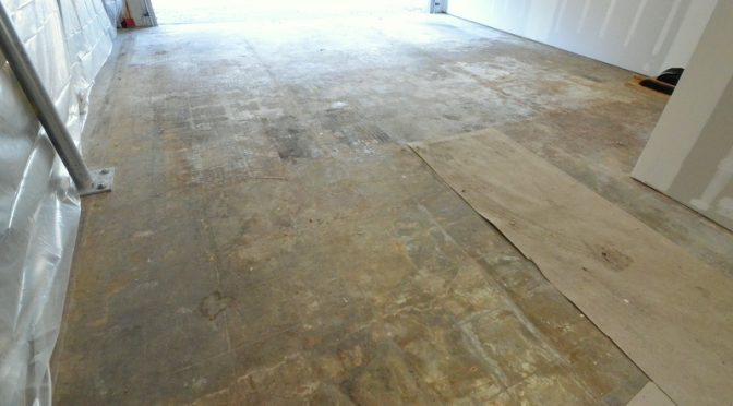 Transforming the garage floor