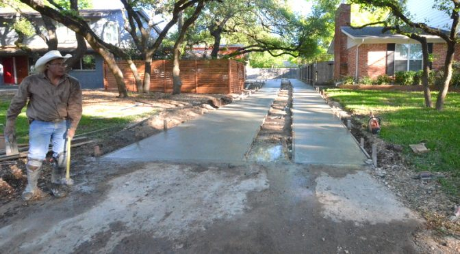 Concrete driveway ballet