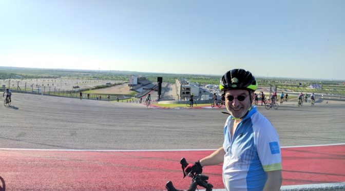 Biking the Circuit of the Americas racetrack
