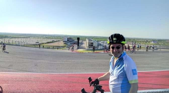 Biking the Circuit of the Americas racetrack