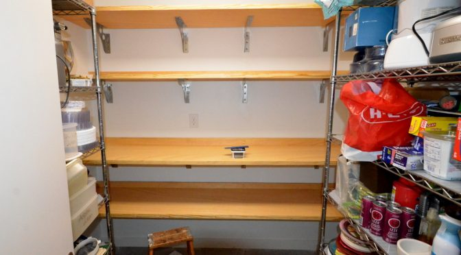 The pantry shelves project